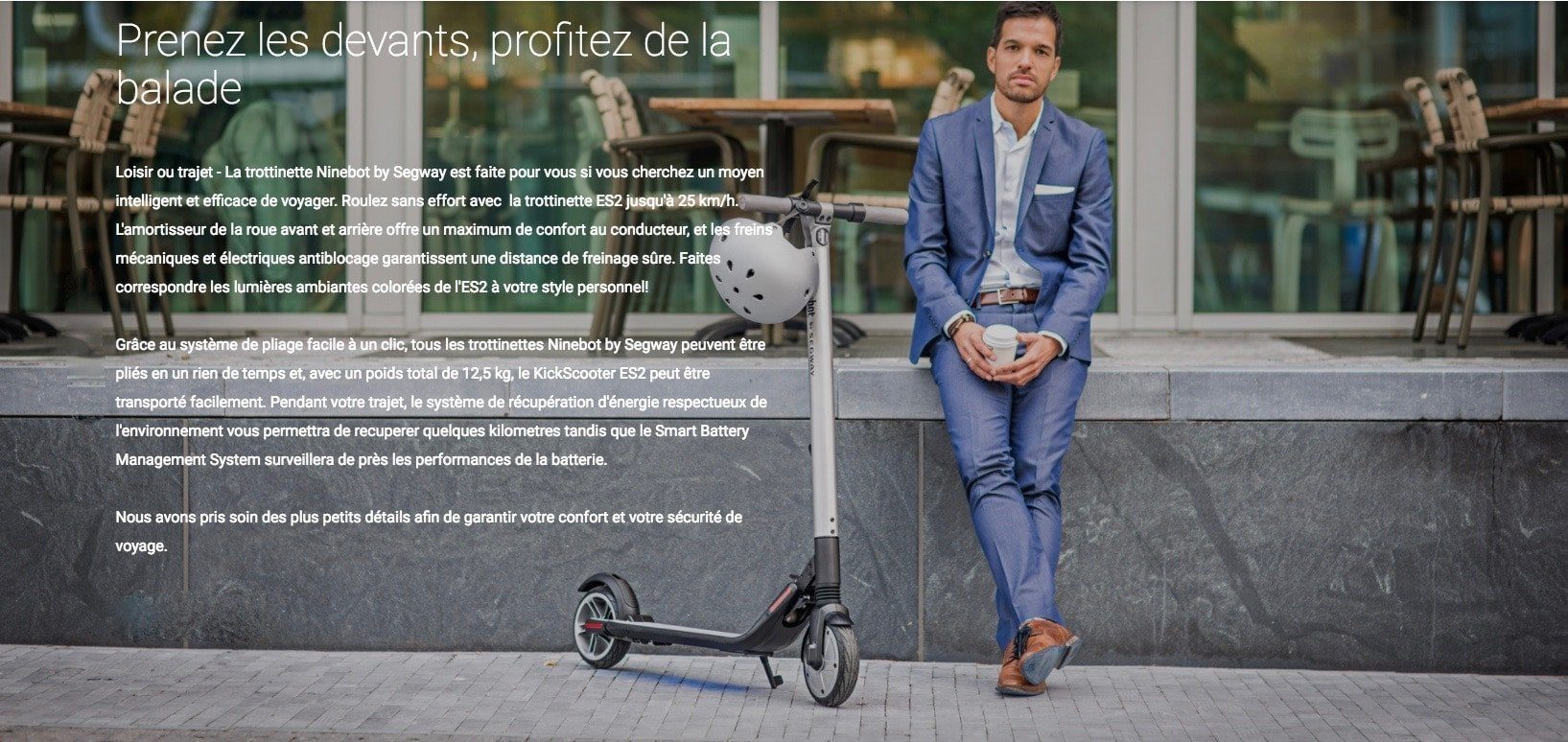 TROTTINETTE NINEBOT BY SEGWAY ES4 - IP54 1