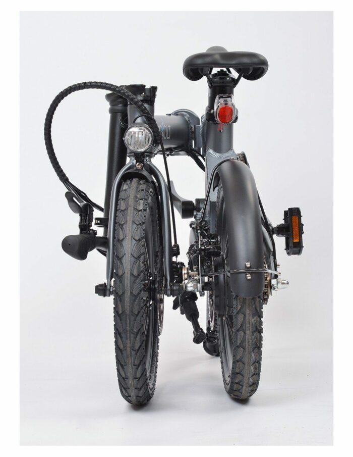 vélo pliant electrique eovolt gris