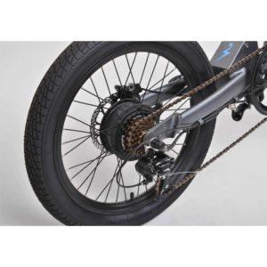 7 vitesse shimani sur vélo pliant electrique eovolt confort