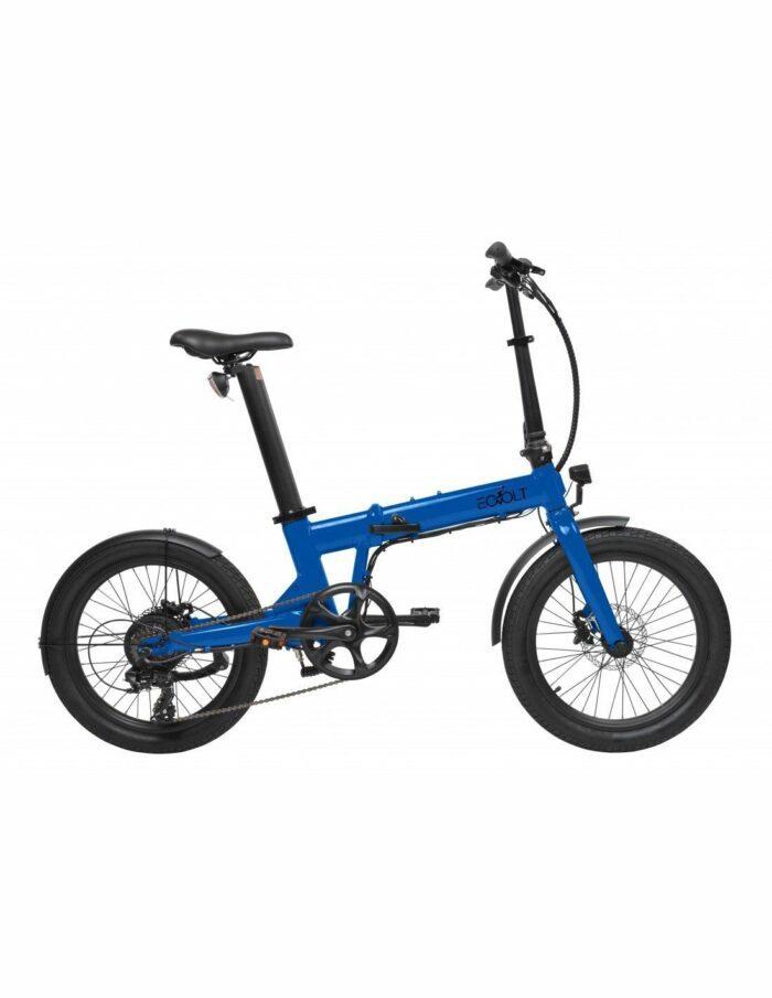 vélo pliant electrice Eovolt confort bleu
