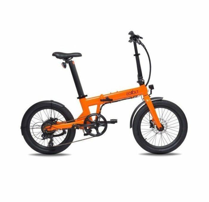 vélo pliant eovolt confort orange