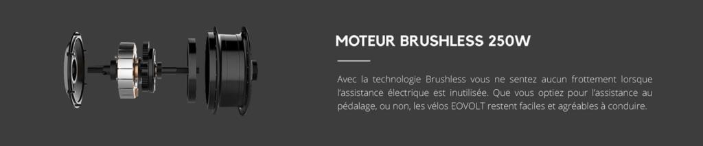 moteur brushless 250W vélo pliant électrique EOVOLT