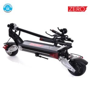trottinette électrique zero 8X double moteur pliante suspension-pneu 8 pouces en dur GS