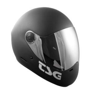 TSG casque noir avant